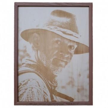 Fotogravur auf Holz mit Bilderrahmen