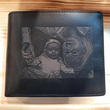 Geldbörse mir Fotogravur schwarz
