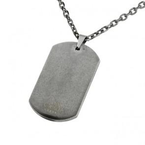 Dog Tag Halskette personalisiert beige