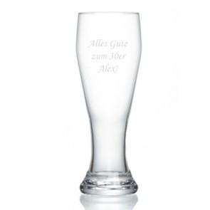 Bierglas mit Gravur