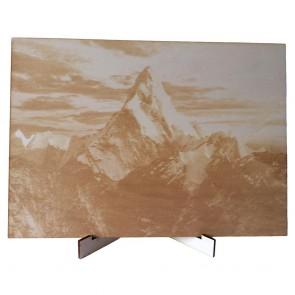 Holzportrait mit Fotogravur