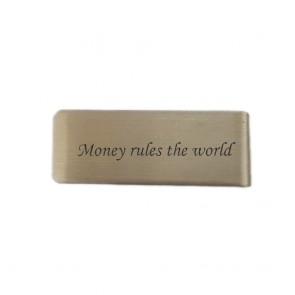 Geldspange aus Edelstahl