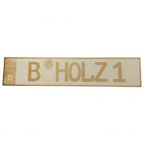 Autokennzeichen aus Holz