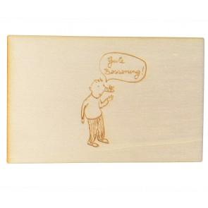 "Holzpostkarte ""Gute Besserung"""