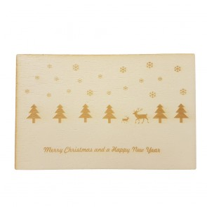 "Holzpostkarte ""Merry Christmas"""