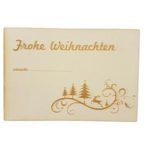 """Holzpostkarte """"Frohe Weihnachten"""""""