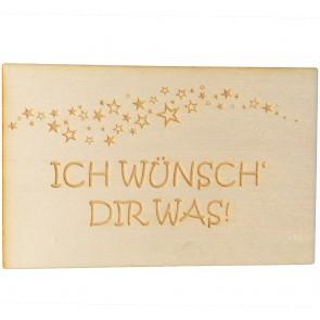 "Holzpostkarte ""Ich wünsch' Dir was"""