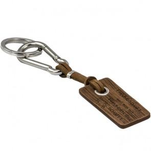 Schlüsselanhänger braun, personalisiert