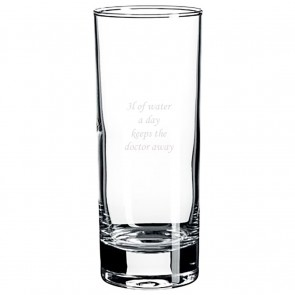 Trinkglas graviert