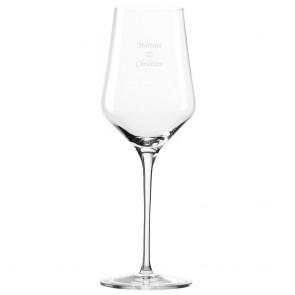 Weissweinglas mit Gravur