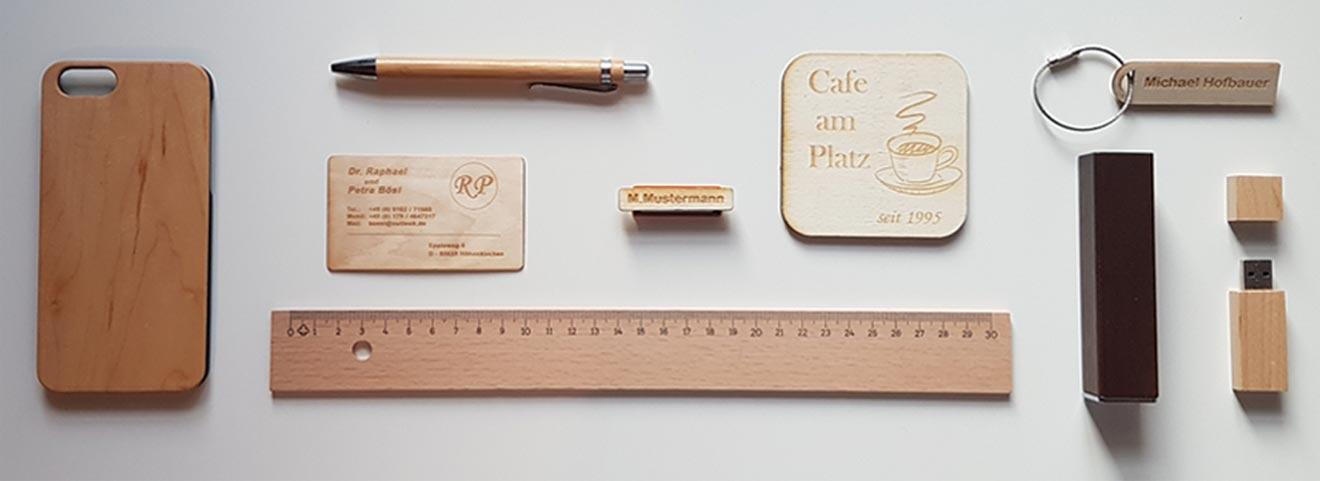 Geschenke mit Fotogravur aus Holz