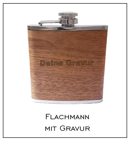 Holzflachmann mit Gravur