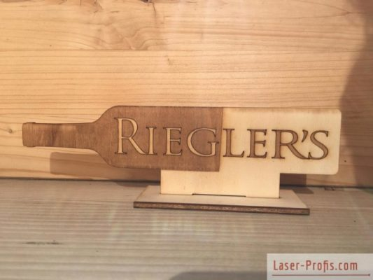 Tischaufsteller aus Holz Restaurant