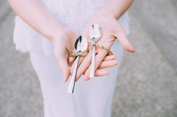 Besteck für Hochzeit gravieren