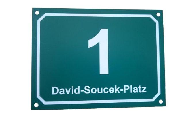 Hausnummernschild Graz