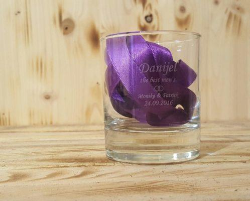Whiskey-Glas mit Gravur