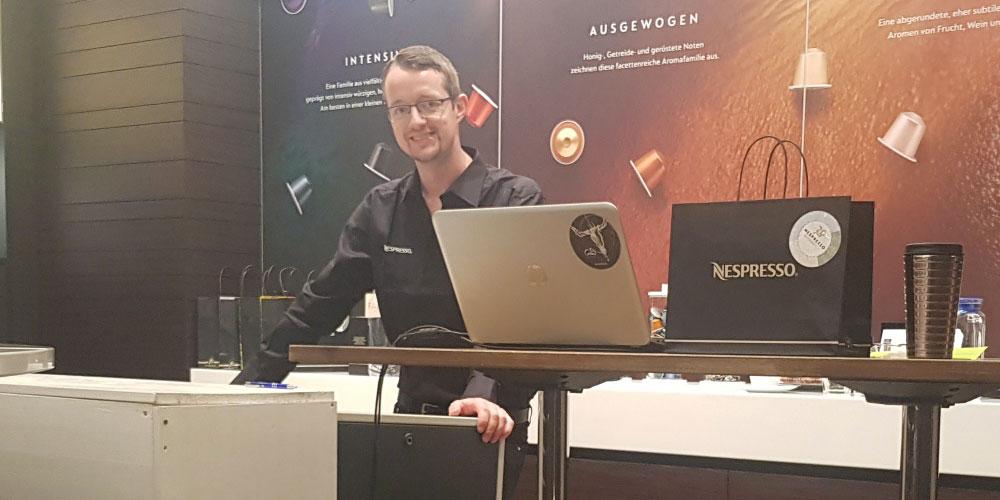 Laser-Profis.com Lasergravur vor Ort Nespresso Wien